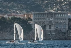 J/70s sailing match race off Monaco
